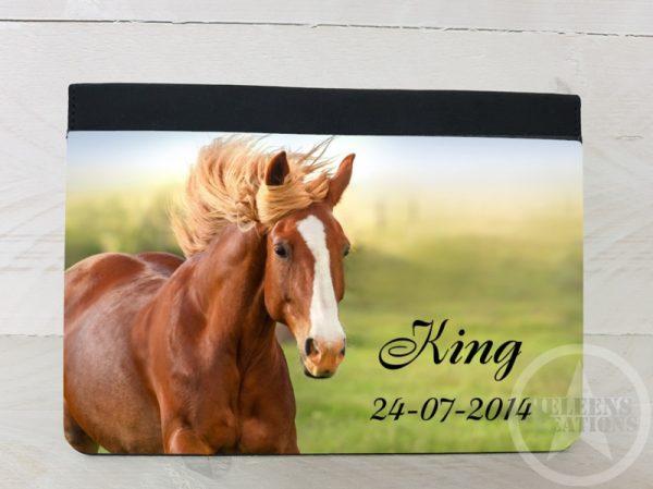 Paarden paspoorthoes met foto en naam