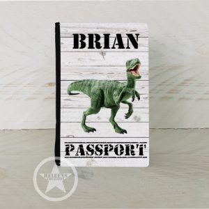 Paspoort hoesje met dinosaurus