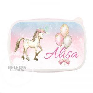 Broodtrommel unicorn en ballonnen