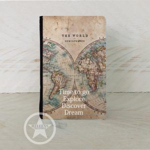 Paspoort hoes met worldmap