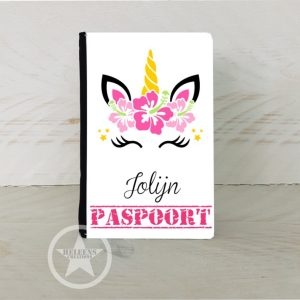 Paspoort hoes unicorn bloem