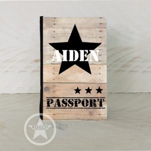 Paspoort hoes ster en naam