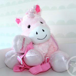 Schattige unicorn tas met naam