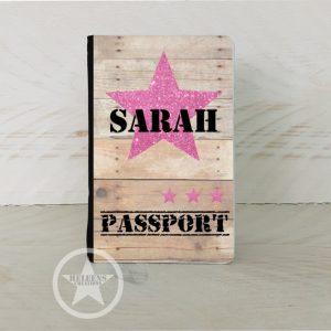 Paspoort hoes ster en naam meisje