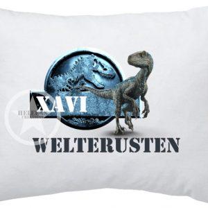 Hoofdkussen dinosaurus met naam*
