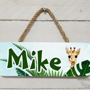 Naambord kinderkamer giraffe