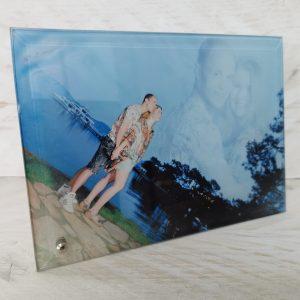 Foto bedrukt op glas