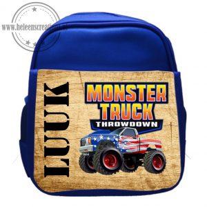 Rugtas met naam monster truck