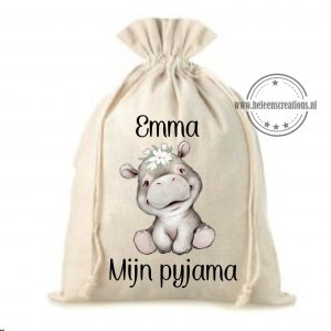 Pyjamazak jungle nijlpaard meisje