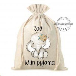 Pyjamazak jungle olifant meisje