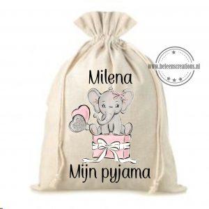 Pyjama zak olifant cadeau meisje
