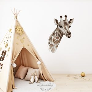 Muursticker safari giraffe