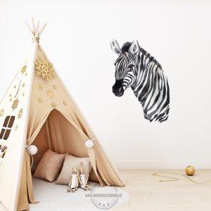 Muursticker safari zebra