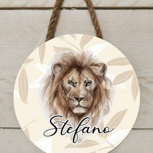 Naambord safari leeuw
