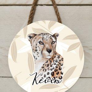 Naambord safari luipaard